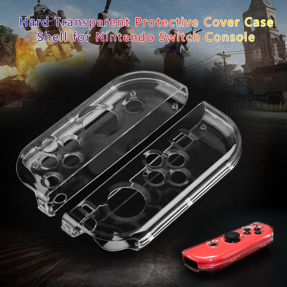 2pcs for Nintend Game Controller Protective Covers Transparent Clear Hard Crystal Shell Cover Case for Nintend Switch NS Console