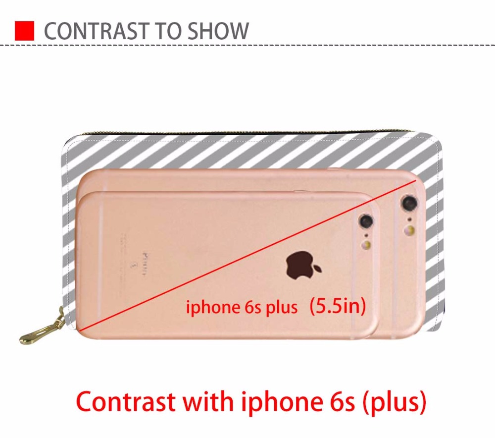 FORUDESIGNS PU Leather Purse for Women Long Phone Cash Photo Holder Ladies Dachshund Brand Cluth Wallets Girls Cute Coin Pocket in Wallets from Luggage Bags