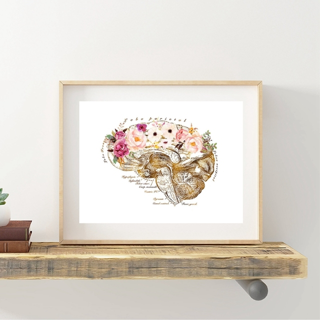 Occupational Therapy Assistant Gifts Print Psychology Wall Art Canvas Painting Brain Art Picture Phsychologist Office Decoration