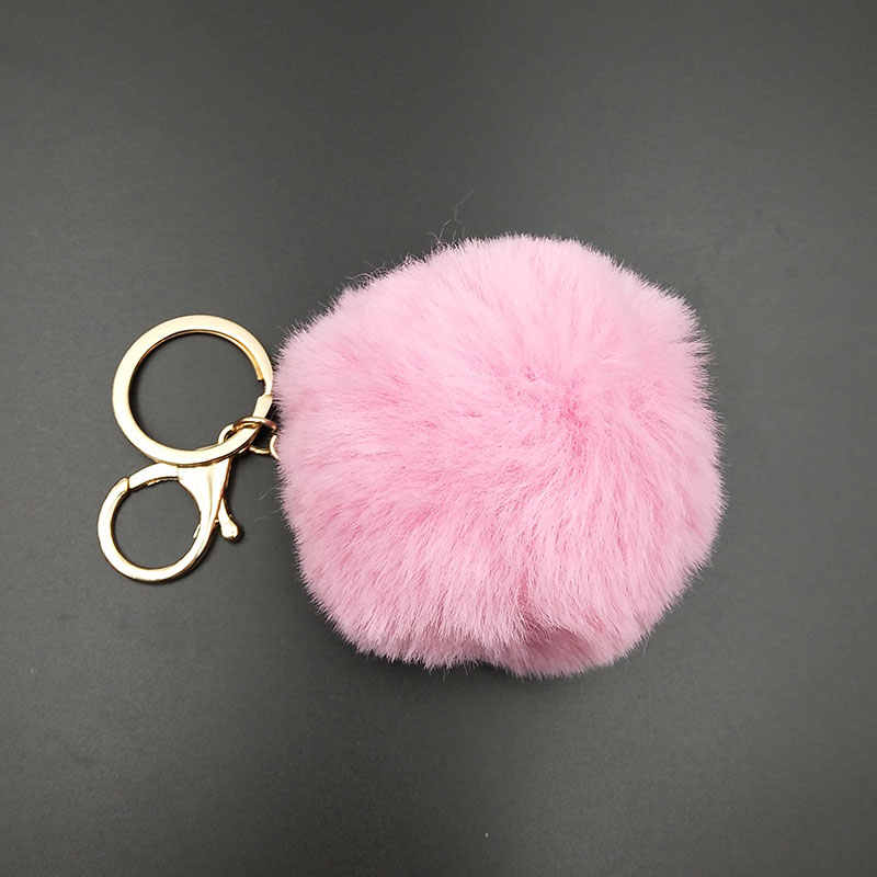5 cor Chaveiros Trinket Chaveiro Bola De Pêlo Pompom Pele Artificial no Saco Bonito Fofo Falso Pompom Pingente Acessórios