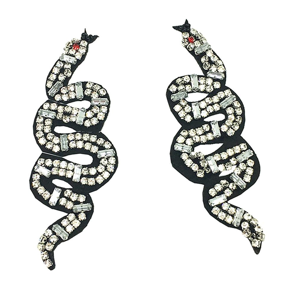 3 par rebordeado remiendo de la serpiente araña applique coser en ...