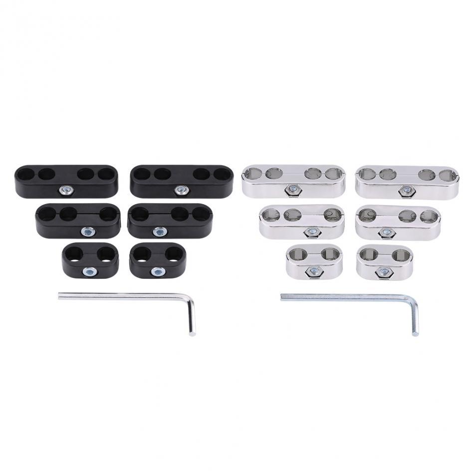 Wire Separators Divider for 7mm//8mm Spark Plug Wires Engine Spark Plug Wire Separators for Chevy Ford and Mopar Silver
