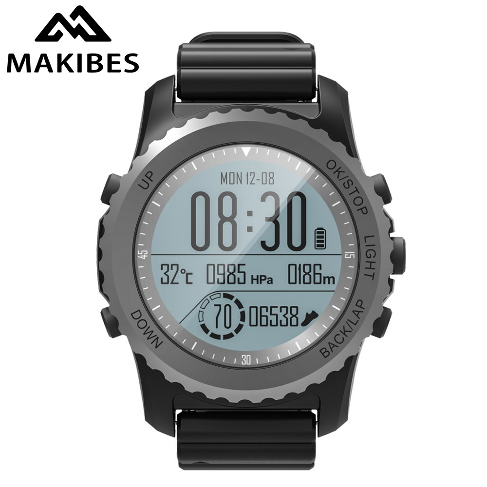 Original Makibes G07 GPS Smart Sport Watch Bluetooth Smart Watch Professional Waterproof Dynamic Heart Rate monitor + Free Gift