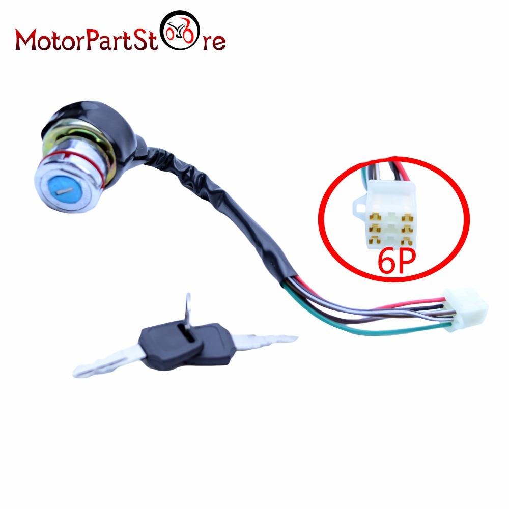 hight resolution of 6 wires on off lock ignition key switch for kazuma falcon roketa 50cc 70cc 90cc 110cc 125cc atv quad motor dirt bike motorcycle