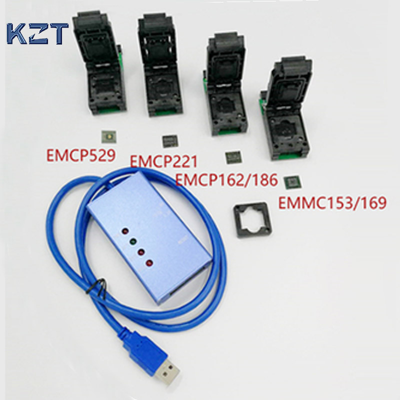 EMMC153 169 EMCP529 EMCP162 189 EMCP221 socket 6 in 1 Data Recovery Tools for Android phone
