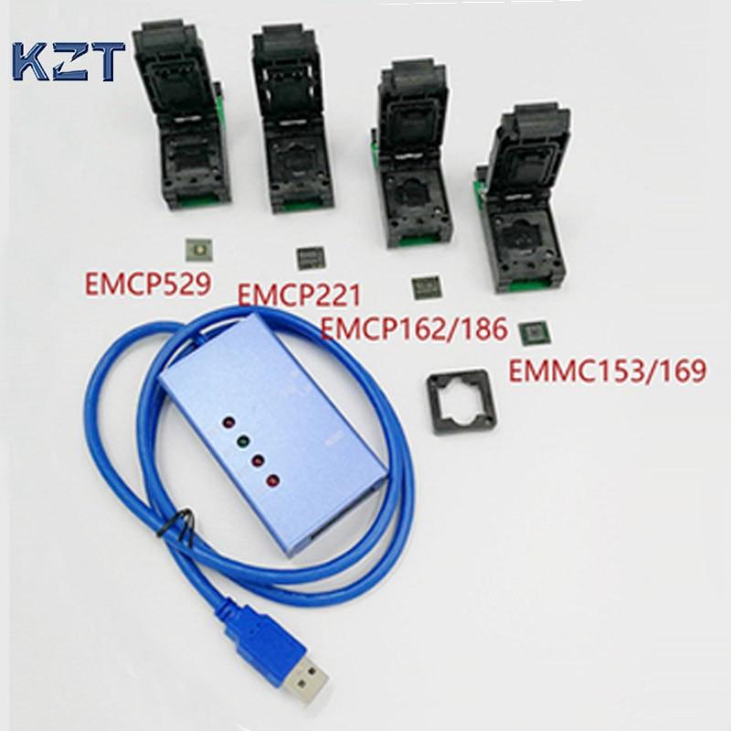 EMMC153 169 EMCP529 EMCP162 189 EMCP221 presa 6 in 1 Strumenti di Recupero dati per il telefono Android eMMC programmatore Socket Alta qualità