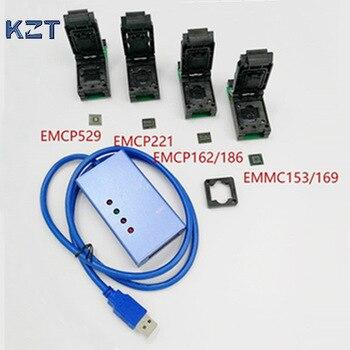 EMMC153 169 EMCP529 EMCP162 189 EMCP221 Soket 6 In 1 Veri Kurtarma Araçları Android Telefon Için EMMC Programcısı Soket Yüksek Kaliteli