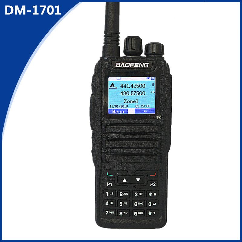 Baofeng DM-1701 Walkie-talkie 2 Dual-slot Dual-frequency Two-way Wireless DMR Ham Amateur Radio Digital Mobile Radio Transceiver