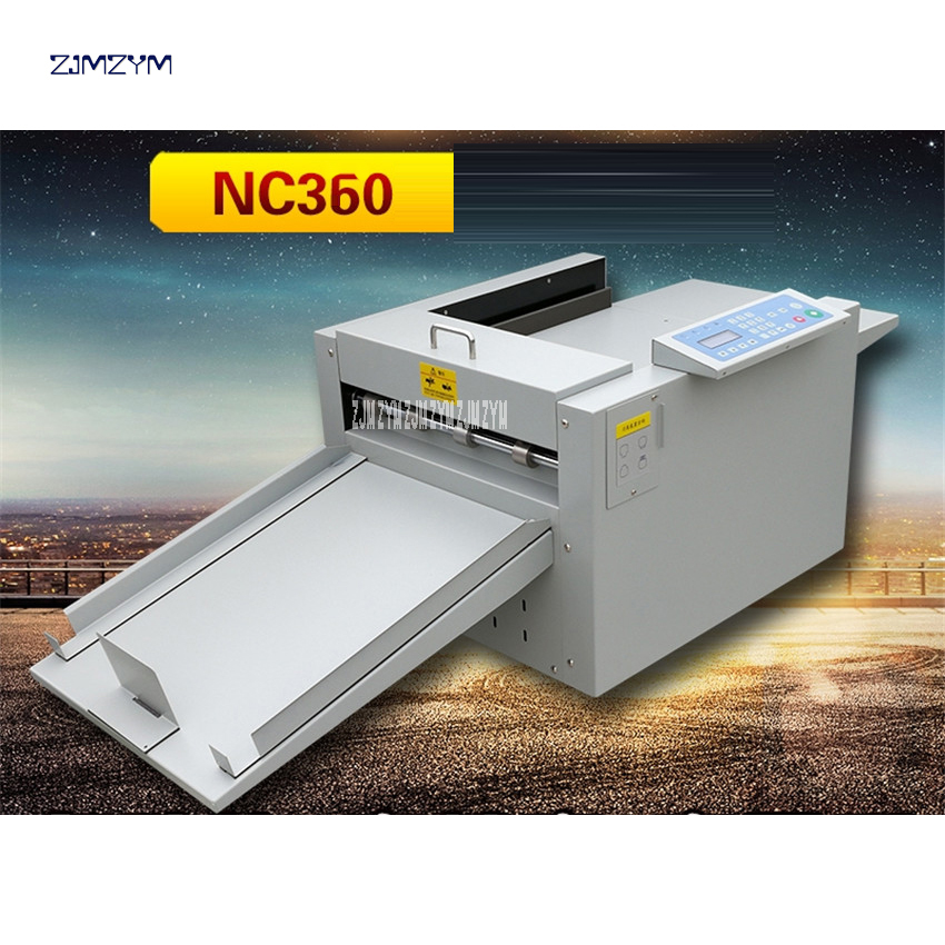 NC360 máquina de plegado de papel eléctrica máquina de plegado libro plegado máquina de corte de línea de marca