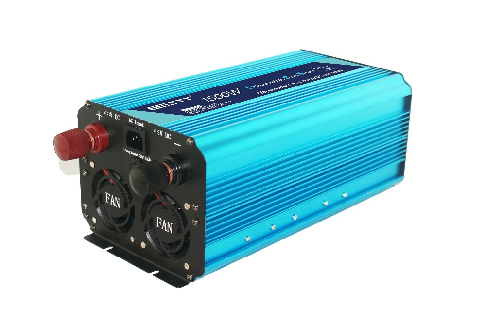 pure sine wave power inverter with AC charger 48v 220v with high quality 1500watt - 4