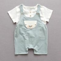 Zomer Casual Baby Overalls 100% Katoenen Broek Jarretel Unisex Pantsuits Zuigeling Outfits Baby Meisje Kleding Voor Kinderen 0-2 jaar