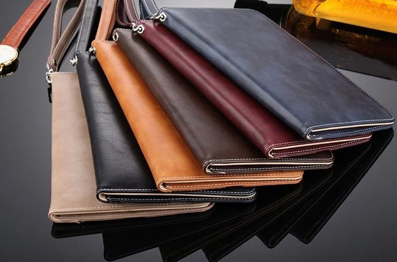 Luxury Leather Case For iPad Air 1 Air 2 Hand Holder Strap Business Book Cover For Apple ipad 2017 2018 Smart Protective Case (1)