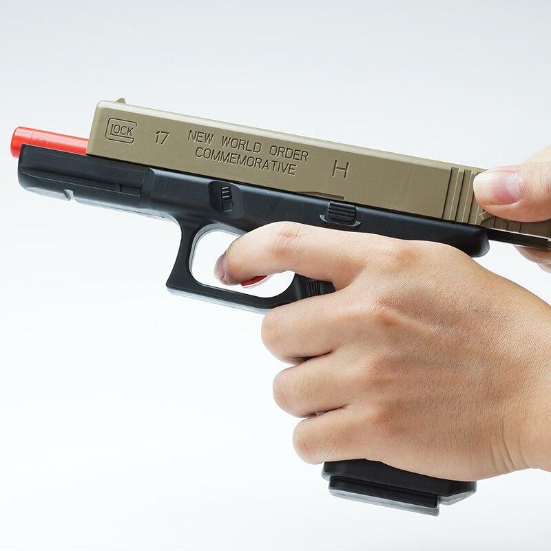 Outdoor Toys Children's Toy Gun Glock Launch Bullets Gel Bullet Crystal Gun Boy Weapon Pistol Blaster Kids Xmas Gifts 2
