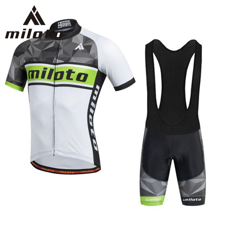 Prix pour Miloto Respirant Vélo Maillot Pantalon Ensemble pour hommes Mâle Vélo De Course Vêtements de Vélo Cycle Vêtements Usure Ropa Ciclismo Sport