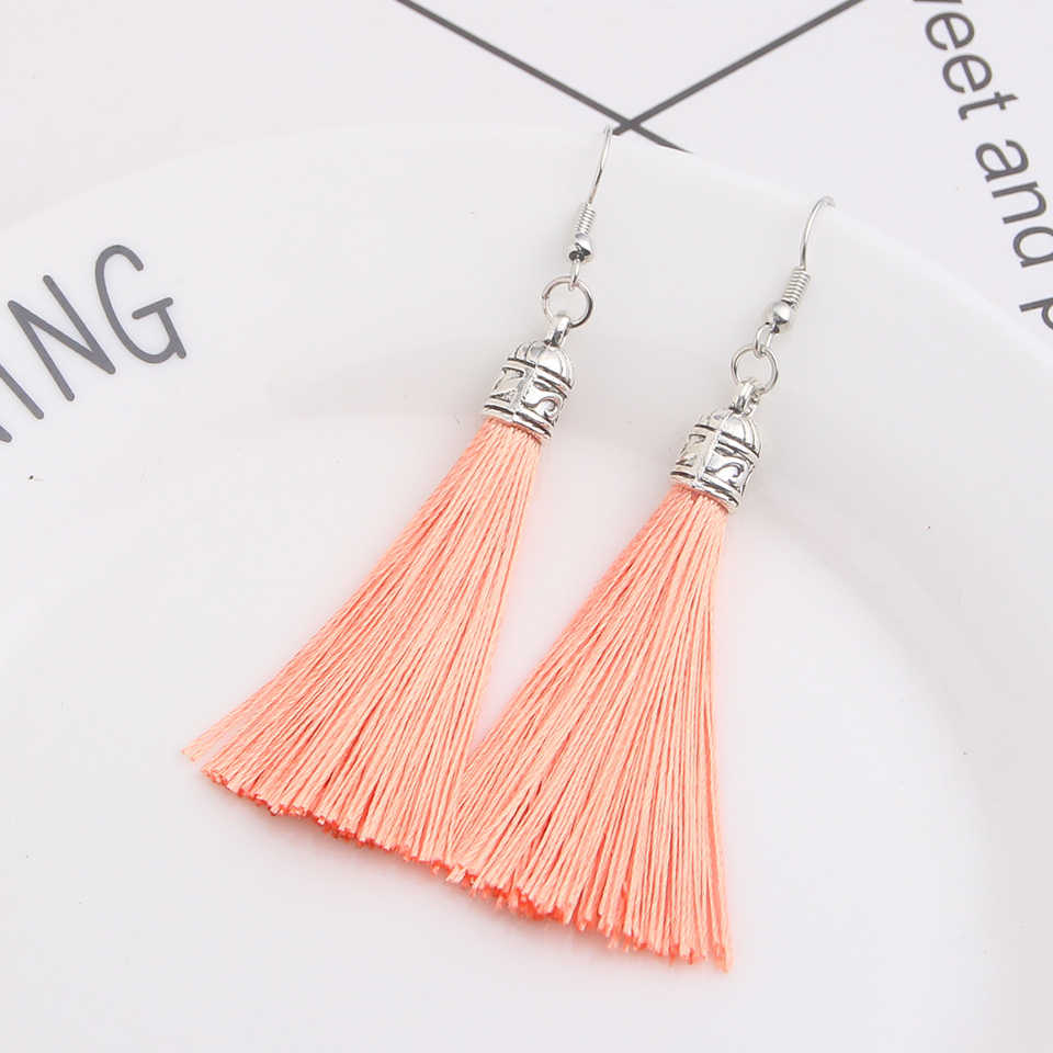 Qtian boho tassel earrings pendientes mujer moda 2019 long earrings for women vintage drop wedding earrings jewelry oorbellen