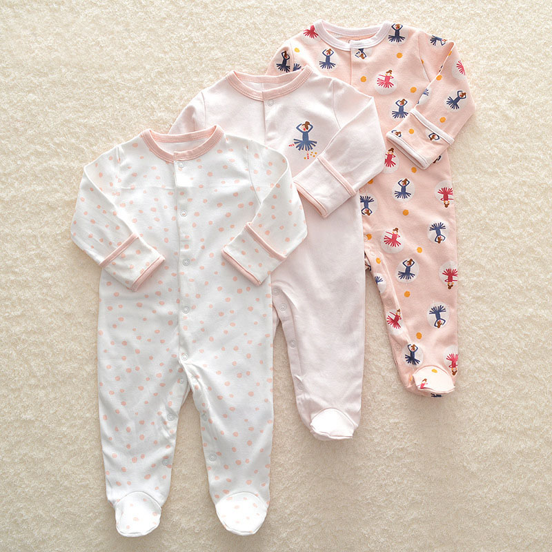 HTB1WJPpennI8KJjSszgq6A8ApXaq Baby Girl Romper Newborn Sleepsuit Flower Baby Rompers 2019 Infant Baby Clothes Long Sleeve Newborn Jumpsuits Baby Boy Pajamas