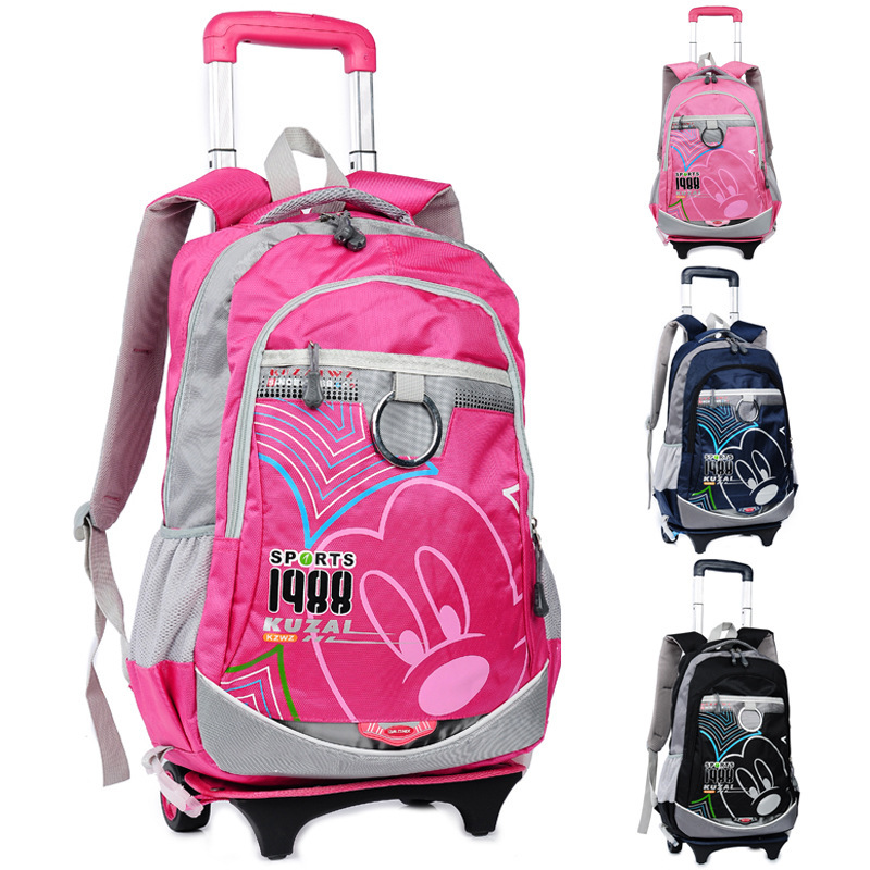 Christmas Trolley backpacks high school Kid trolley suitcase US style 18-inch detachable backpack waterproof