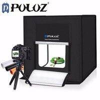 Puluz Оригинал 40 см * 40 см Studio софтбокс LED Стрельба Light Палатка фотовспышкой Палатку Комплект + Портативный сумка + 2 фонов + диммер