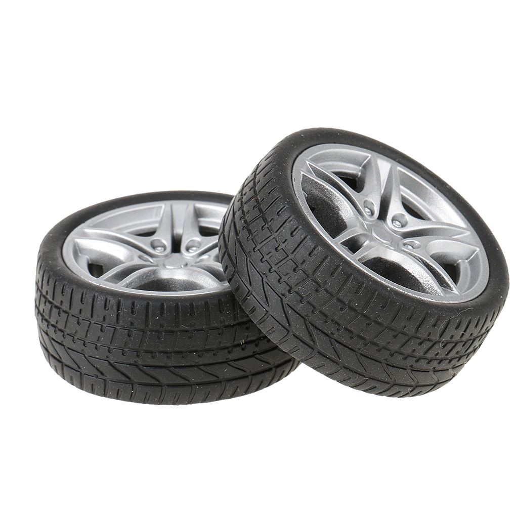 Durable 2pcs Rubber Wheels Tyres Car Truck Model Toys Wheels 35/48mm for Truck/Buses Making Kids Vehicles Toy RC Spare Parts spare the kids