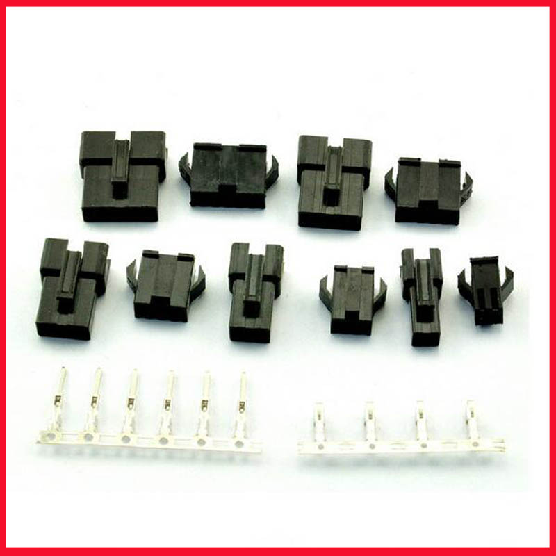 50 Sets/lot, (2+3+4+5+6Pin) Each Pin 10 Sets JST 2.54mm SM Series Multipole Connector Plug, With Ternimal Male And Female