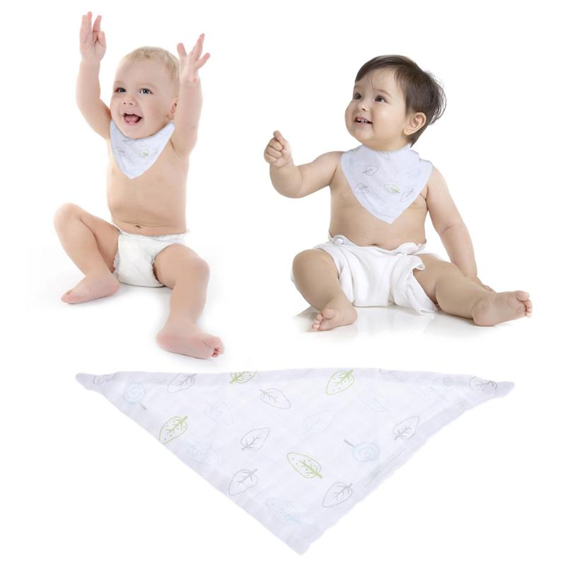 Triangle Baby Saliva Towel Soft Cotton Gauze Kids Infant Head Scarf Bandana Feeding Bibs Burp Cloth Newborn Saliva Towel Bibs