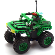 Remote Building Block Car Building ENLIGHTEN City Engineering Can be combined Big wheel off-road Toys for Children gift Boys
