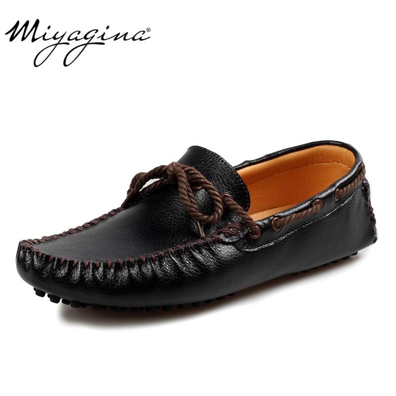 Conduite Chaussures Qualité Hommes Pour Cuir black De Homme Supérieure  Plates Yellow Mocassins 100 Véritable Casual ... e725c778426