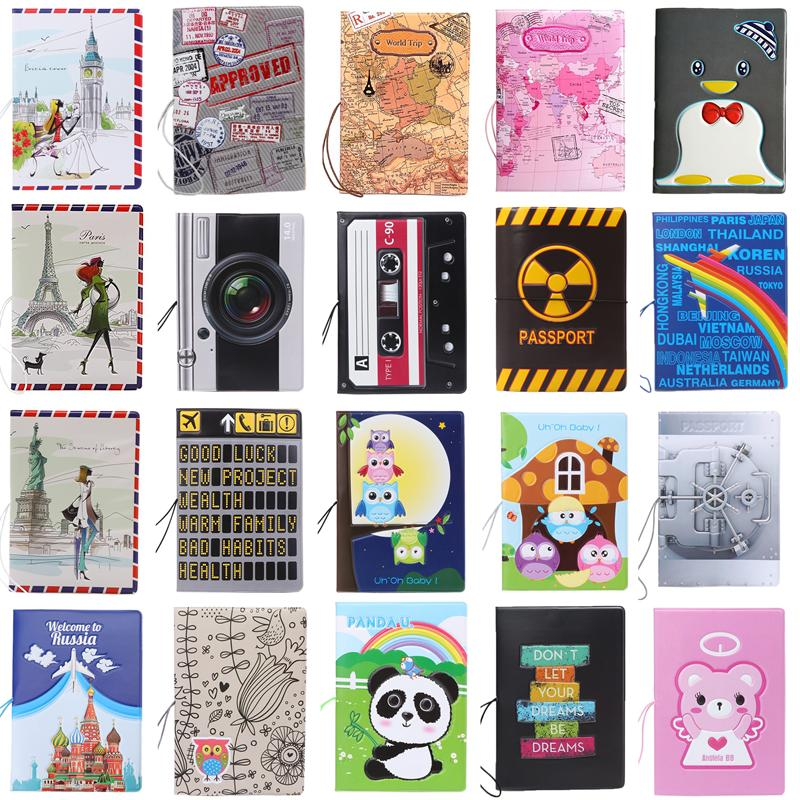 Hot Sale Passport Holders Ticket Protector Document Bag Passport Cover Organizer 22 Kinds Of Travel Beauty Patterns