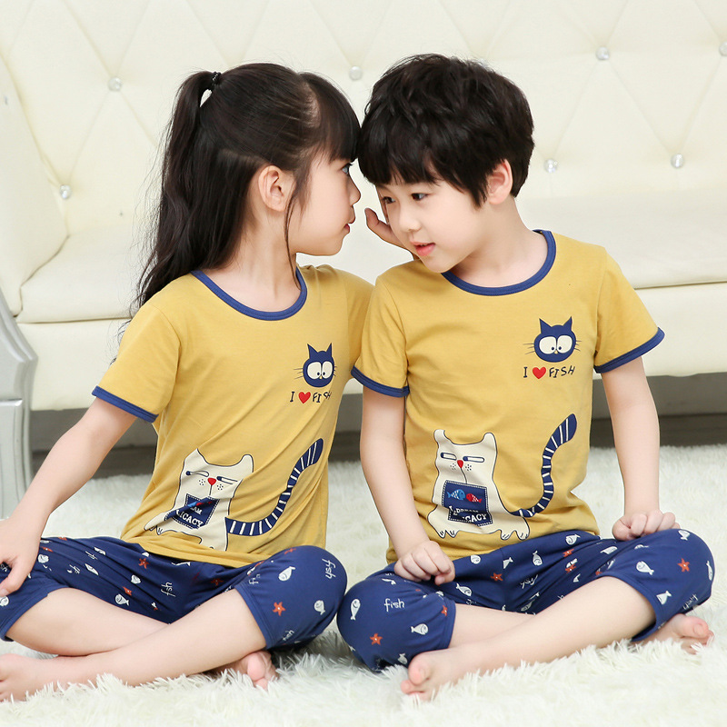 Kids Sleepwear Baby Girl Pajamas Sets Boys Sleep Suit Cartoon Cotton Pajamas For Children Toddler Girl Clothes Pijama Infantil