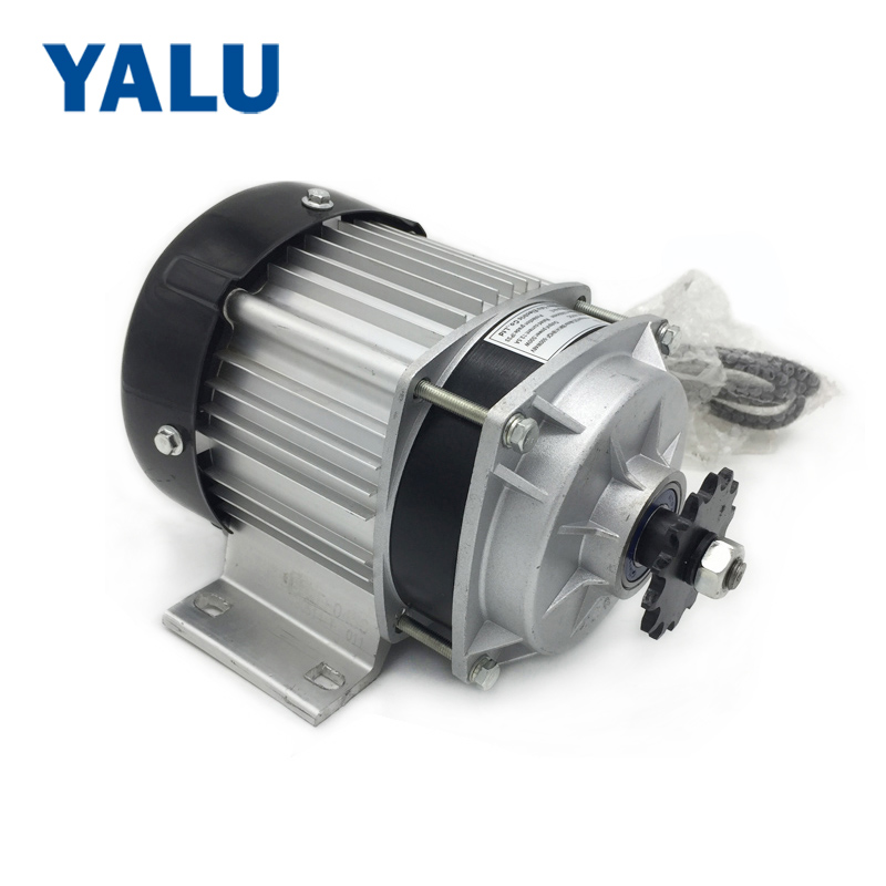 цена на YALU BM1418ZXF 500W 48V UNITEMOTOR BLDC Planetary Reducer Engine Brushless E-Tricycle Electric Three Wheel Rickshaw DC Motor