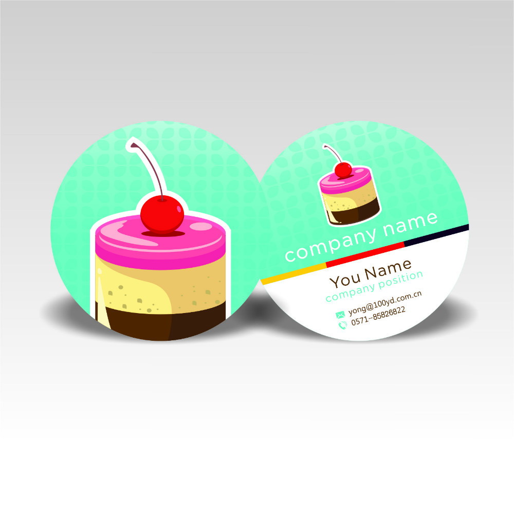 Boutique Designer Nice Customized Round Business Cards Colorful ...