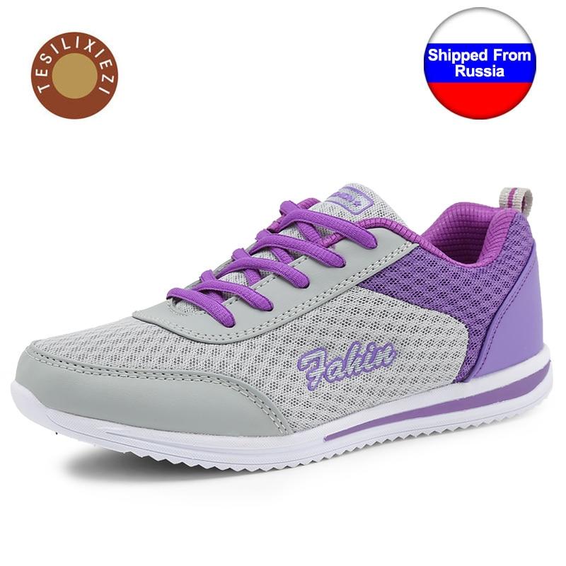Confortable Respirant Femmes Poids Léger de Sport Traning Chaussures Super Maille Légère Chaussures De Course En Plein Air Sport Chaussures Sneakers