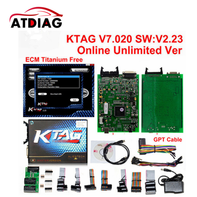 Online Version KTAG V7.020 No Tokens Kess 5.017 Kess V2 V5.017 OBD2 Manager Tuning Kit K-TAG 7.020 Master V2.23 ECU Programmer 2016 top selling v2 13 ktag k tag ecu programming tool master version hardware v6 070 k tag unlimited tokens