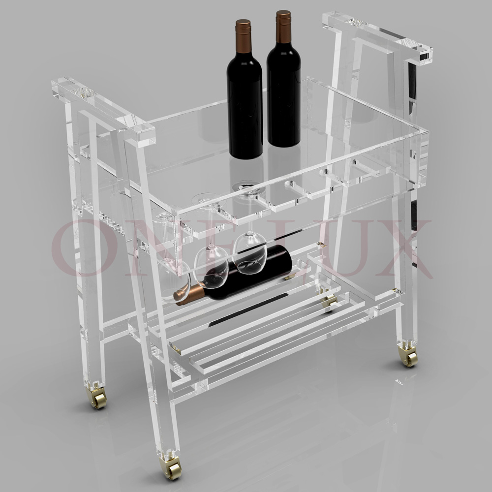 Popular Acrylic Bar Cart