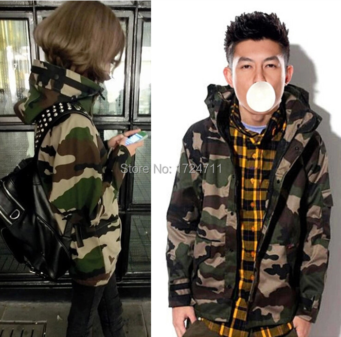 e4a8208efa1 Tactical Camouflage Jacket Men Women Plus Size Camo Hooded Winter Jackets  Military Thick Canvas Jacket Parka Fashion Streetwear-in Jackets from Men s  ...