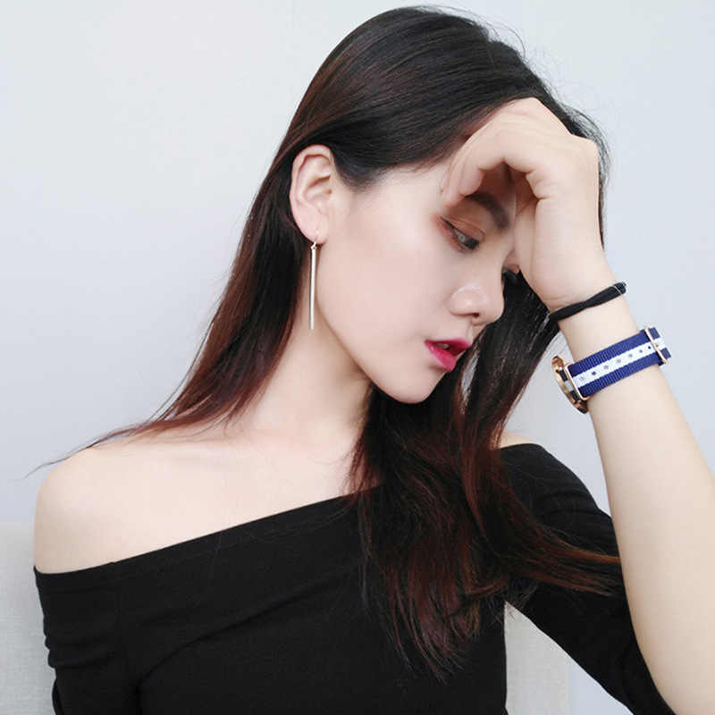Perhiasan Korea Anting-Anting Panjang Anting-Anting Telinga Line All-Match Kepribadian Sederhana Temperamen Oorbellen Orecchini