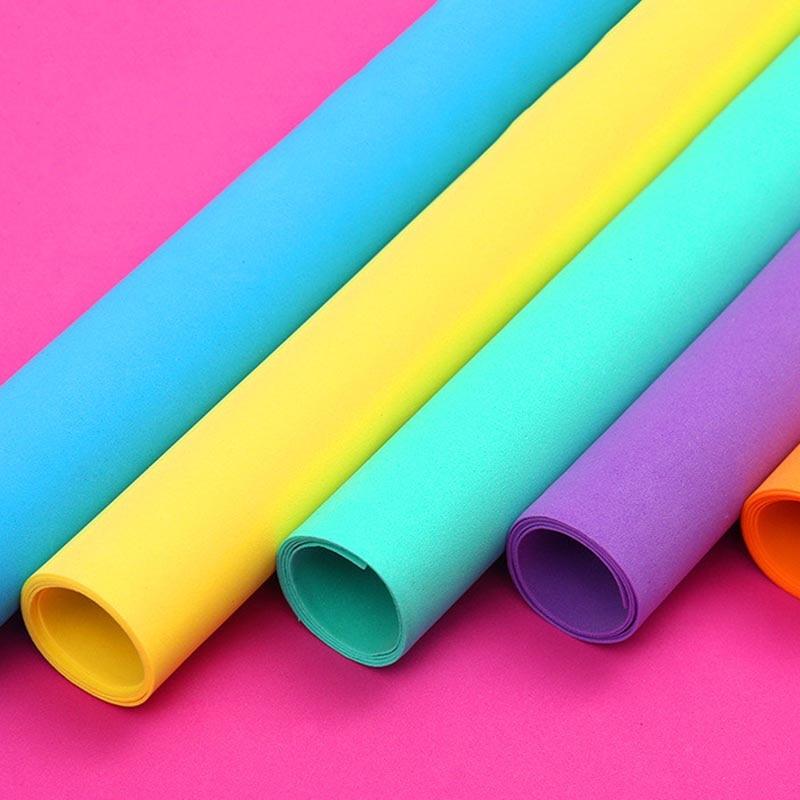 10pcs 50*50CM Foam Paper Handmade Foam Sheets DIY Handcraft Materials Multicolour Flower Prop Wallpapers Random Color