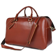Men's Travel Duffle Bag Genuine leathere 2019 Man Casual tote big shoulder crossbody large travel bags male leather handbags