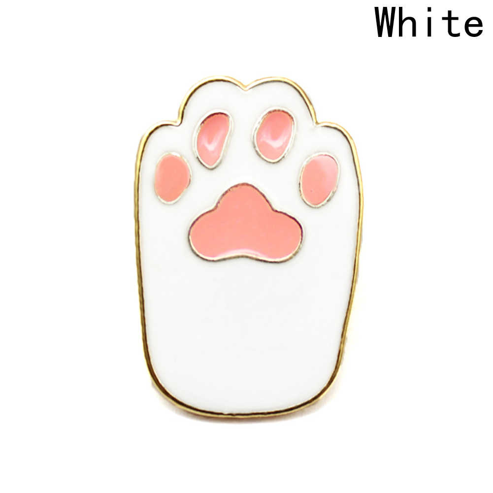 Brooches & pins Pet paw print enamel pin Cat dog paw jewelry Animal lover button icon decorating badge backpack