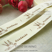 Sewing-Label Cotton Is -15 2cm-Width Flower-Zakka Swallow Takes Mix-Order F002 TOTO About