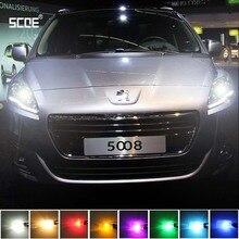 Для peugeot 5008 SCOE Хэллоуин высокого качества 2X 12SMD светодиодный передний фонарь для парковки передний Боковой габаритный фонарь