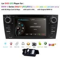 Автомобильный Авторадио, dvd плеера 1 Дин gps Navi для BMW E90 E91 E92 E93 DAB + Система контроля давления в шинах DTV Bluetooth Canbus Рулевое колесо RDS RearCAM карта