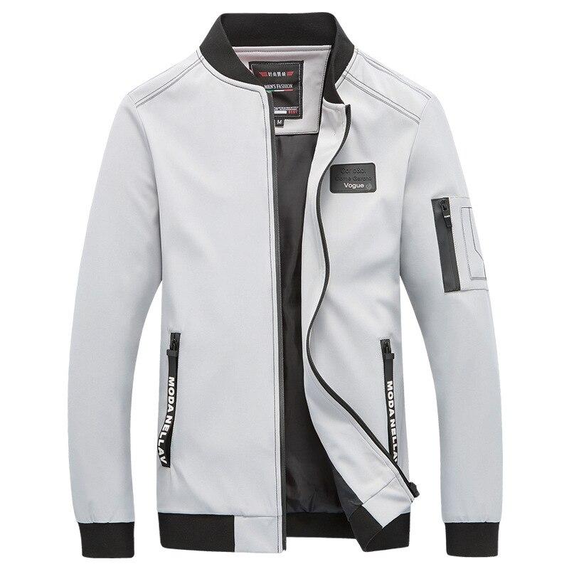 Men College Casual Jacket Spring Autumn 2019 Male Brand Classic Windbreaker Thin Varsity Summer Coat Mens Fashion Overcoat 5XL