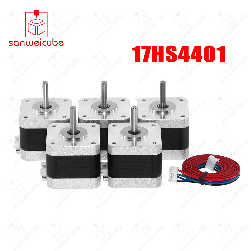 5Pcs/lot Nema 17 New version Lettering Motor (17HS4401 ) 4-lead Nema17 Stepper Motor 17HS4401 42 motor for 3d printer & CNC XYZ 5pcs 4 lead nema17 stepper motor 42 motor nema 17 motor 42bygh 38mm 1 5a 17hs4401 motor for cnc xyz 3d printer motor