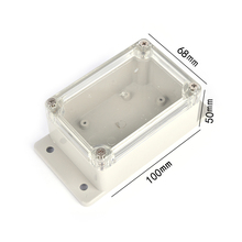 100*68*50mm  Small Electronics Enclosure Clear Plastic Enclosure Waterproof Junction Box Switch Box DIY PLC Project Box 1PC