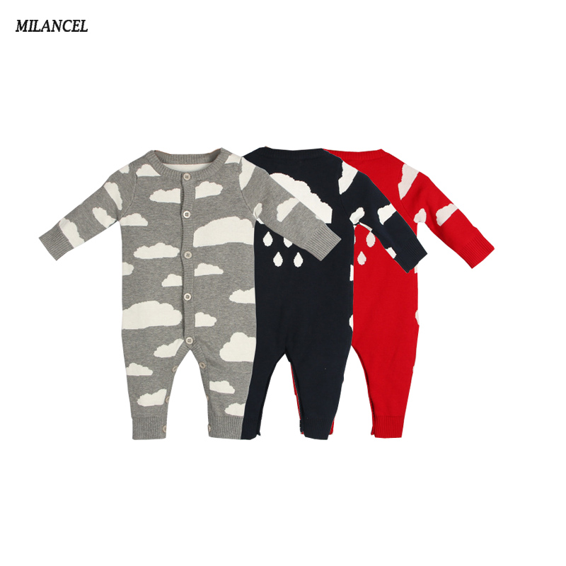 Milancel Baby Rompers Ropa Bebe Cotton Newborn Infant Romper Cloud Baby Girl Boy Jumpsuit 2018 Spring Baby Clothing spring baby romper baby boy clothing set cotton girl clothes summer 2017 animal newborn rompers baby clothing infantil jumpsuit