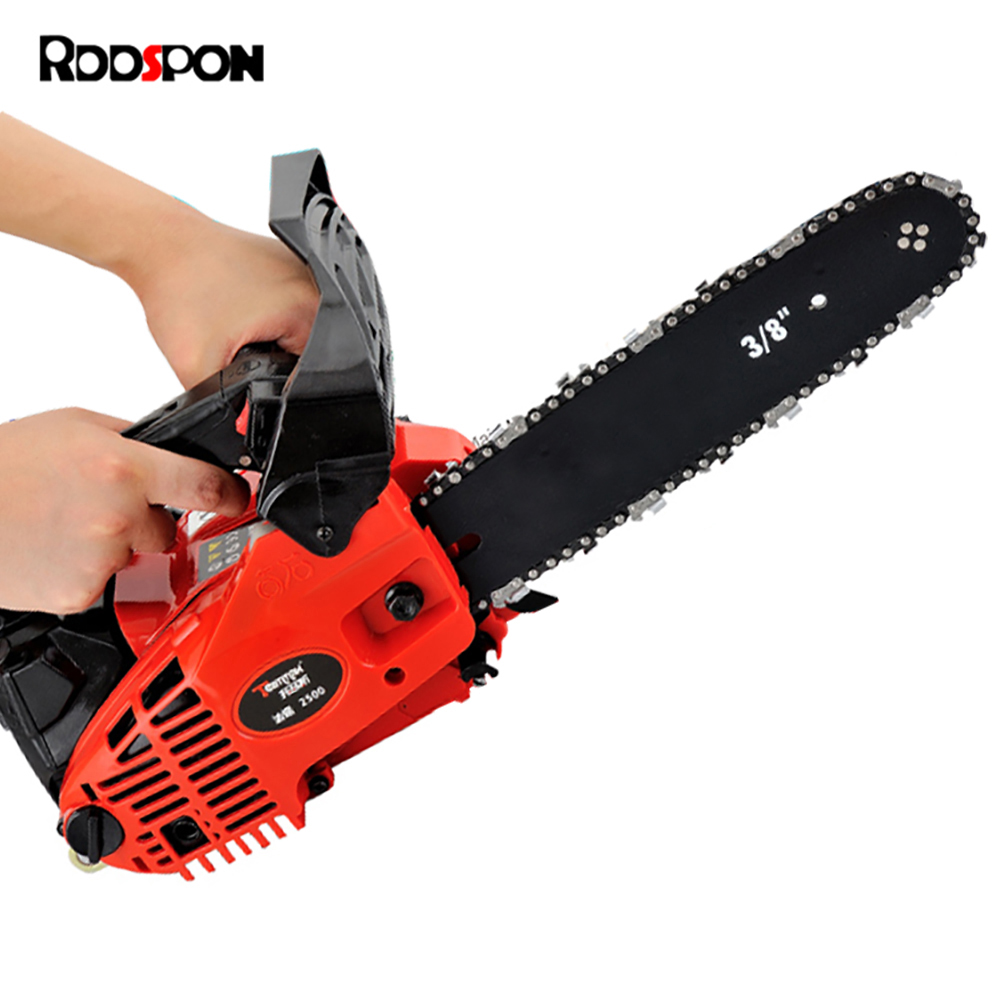 RDDSPON TM2500 Gasoline Chainsaw  2-Stroke Petrol Engine 800W 25.4CC Long Reach Chainsaws Log Saw Bamboo Root Carving Chain Saw