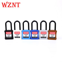 2pcs free shipping 38mm Nylon Shackle Safety Lockout Padlock with Keyed Alike
