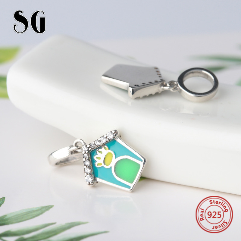 New Authentic 925 Sterling Silver Charm enamel beautiful House Boy Beads with Beads Fit pandora Charm Bracelet DIY Jewelry Gift