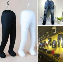 2style 45CM Childrens soft body foot mannequin pants, flexible 0-2year clothing, lower model props cotton fabric B570